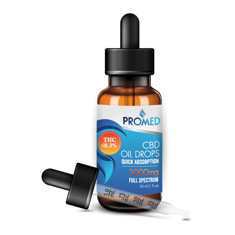 Full Spectrum CBD Oil Drops 3000mg - ProMED CBD