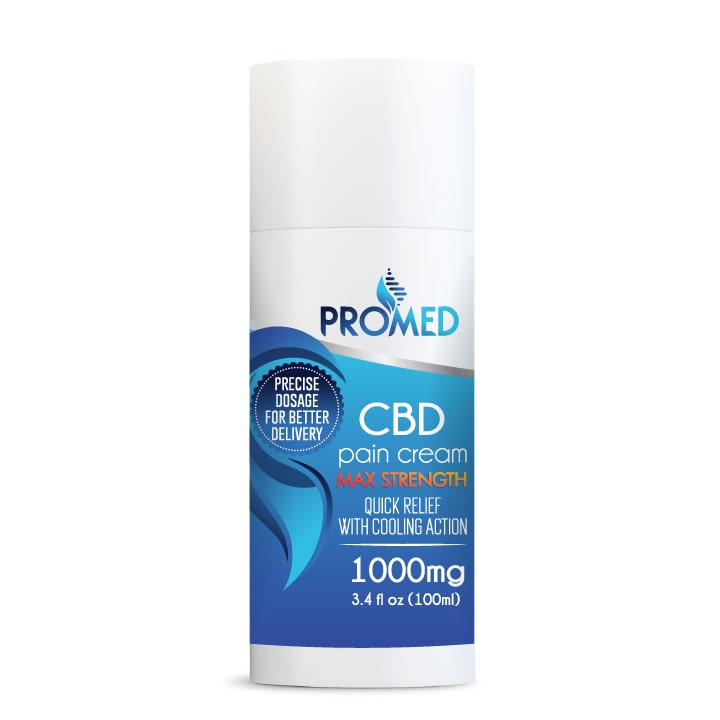 CBD Topical Cream 1000mg THC Free - ProMED CBD