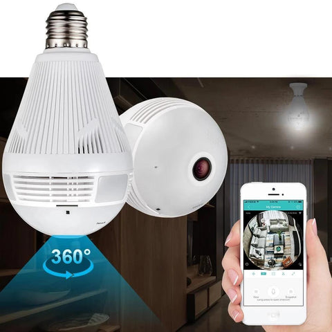 CamBulb™ Camera Light Bulb Panoramic 360 Wifi CCTV Security Camera - TheShinyStore