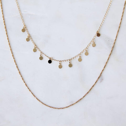 Coin Double Strand Necklace