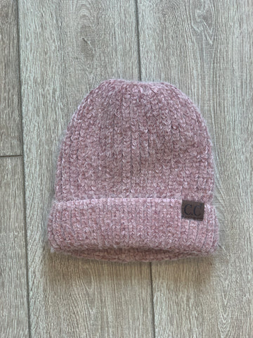 Rose Lake Co. | C.C. Chenille Textured Beanie - Rose