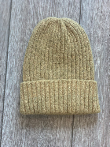 Hey Honey Mustard Ribbed Beanie