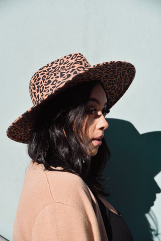 Rose Lake Co. | Urban Jungle Leopard Wool Felt Panama hat