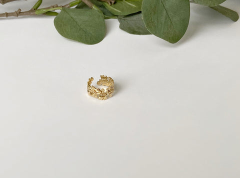 Seaweed Detailed Adjustable Ring