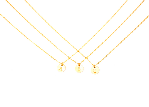 PREORDER - Initial Charm Necklace