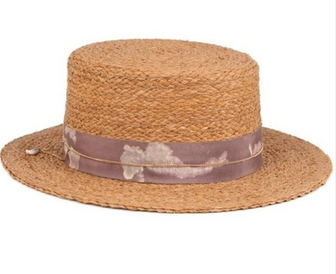 Rose Lake Co. | Seaside Raffia Boater Hat