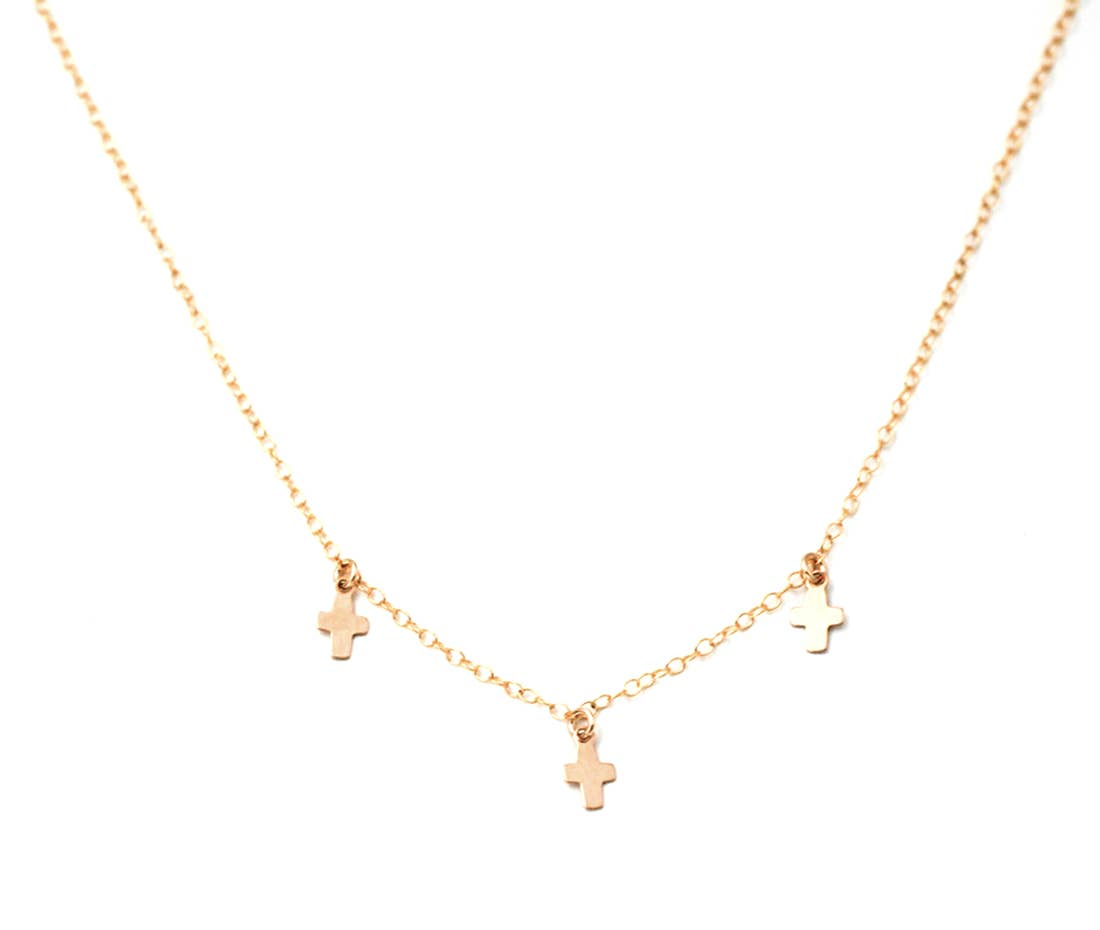 Gold Filled Cross Charm Necklace