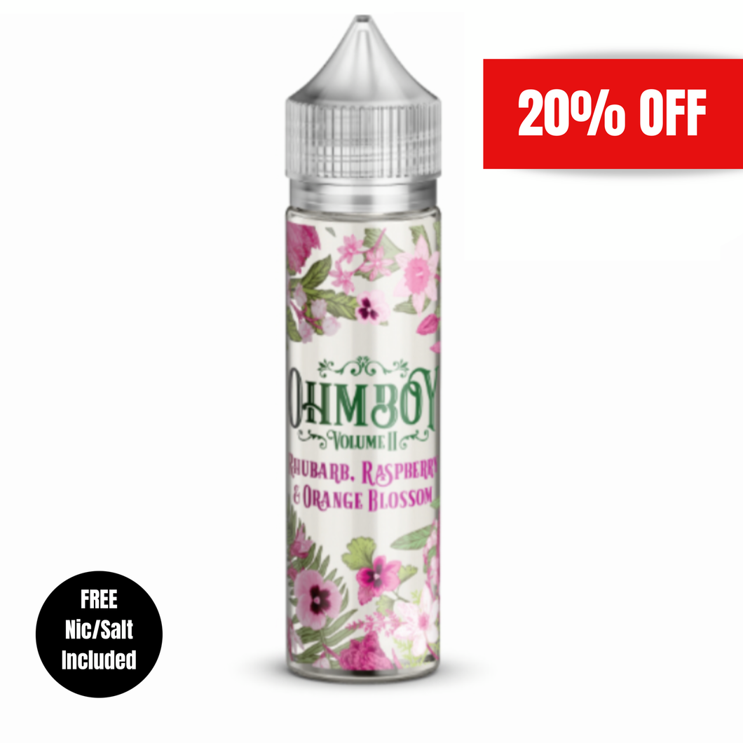 Ohm Boy - Rhubarb, Raspberry & Orange Blossom 50ml