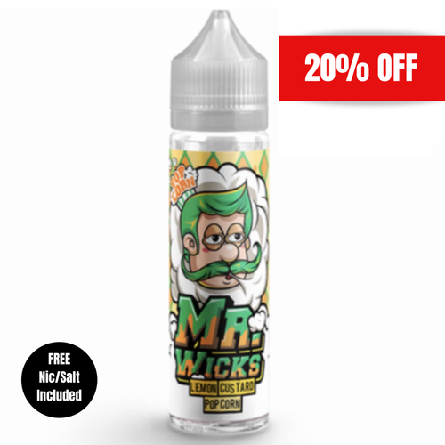 Mr Wicks - Lemon Custard Popcorn 50ml