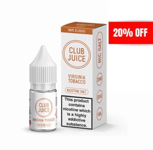 Club Juice - Virginia Tobacco 10ml 20mg Nicotine Salt