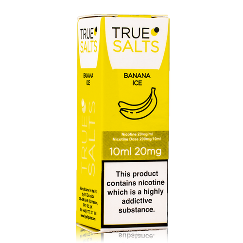 True Salts - Banana Ice Nicotine Salt 10ml
