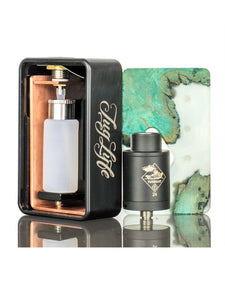 Tugboat -RDA Squonk Kit - Orange & Wood