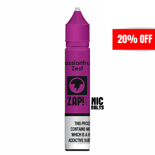 Zap - Passionfruit 20mg 10ml Nicotine Salt