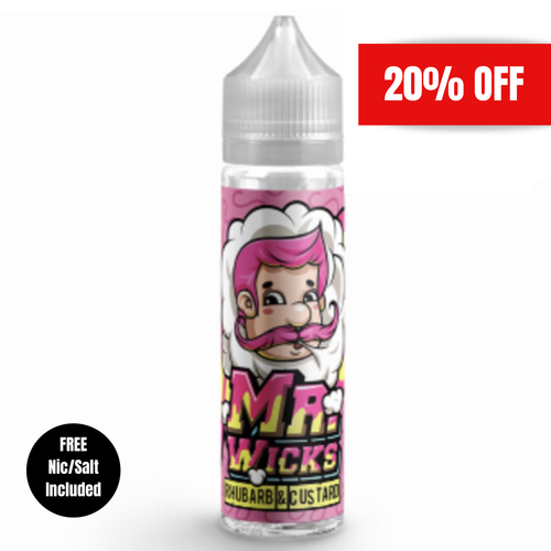 Mr Wicks - Rhubarb & Custard 50ml