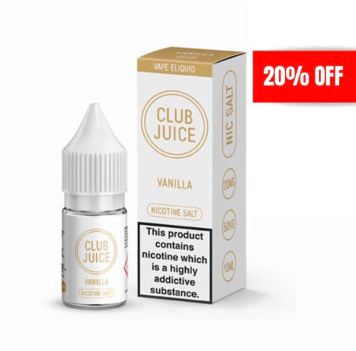 Club Juice - Vanilla 10ml 20mg Nicotine Salt