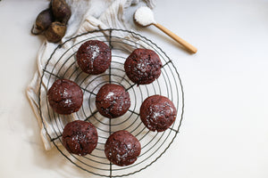 Choc Maple Beetroot Muffins