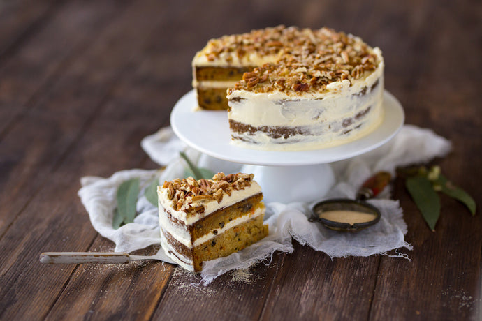 Carrot and Pecan Cake with Cream Cheese Icing