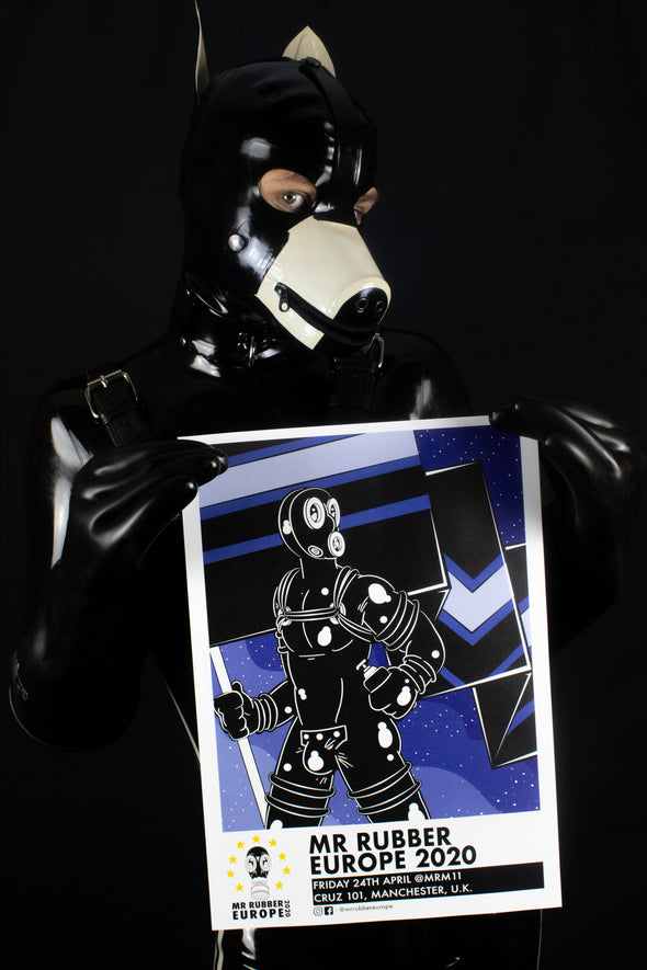 Mr Rubber Europe 2020 (A3 Flag Print)