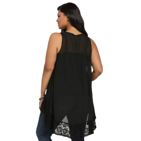 Pirouzi Plus Size Sleeveless Blouse