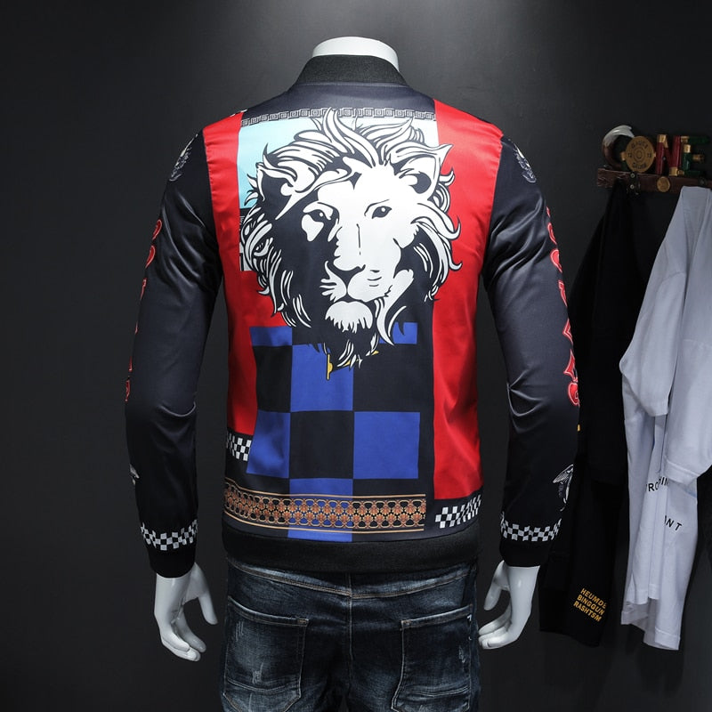 Pirouzi Official 'Lion King' Slim Fit Bomber Jacket