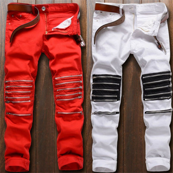 Pirouzi Official Slim Fit Zip Line Jeans