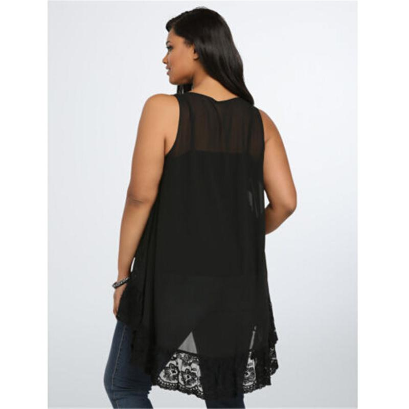 Pirouzi Plus Size Sleeveless Blouse - Pirouzi Athletics