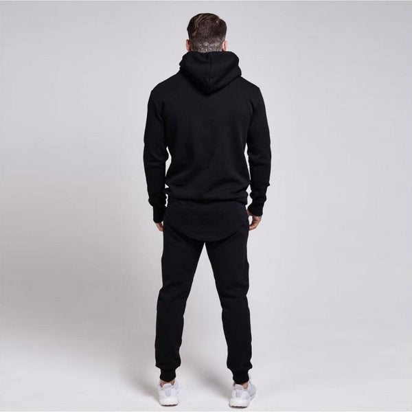 Pirouzi Official S.S Pitch Black Cotton Sweatsuit
