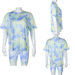 Pirouzi Official Tie Dye Fitted Shorts & Tee
