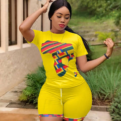 Pirouzi Official Africa Top & Shorts Set