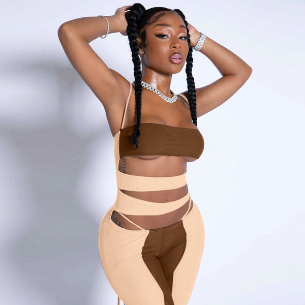 Pirouzi Official Backless Bandage Jumpsuit