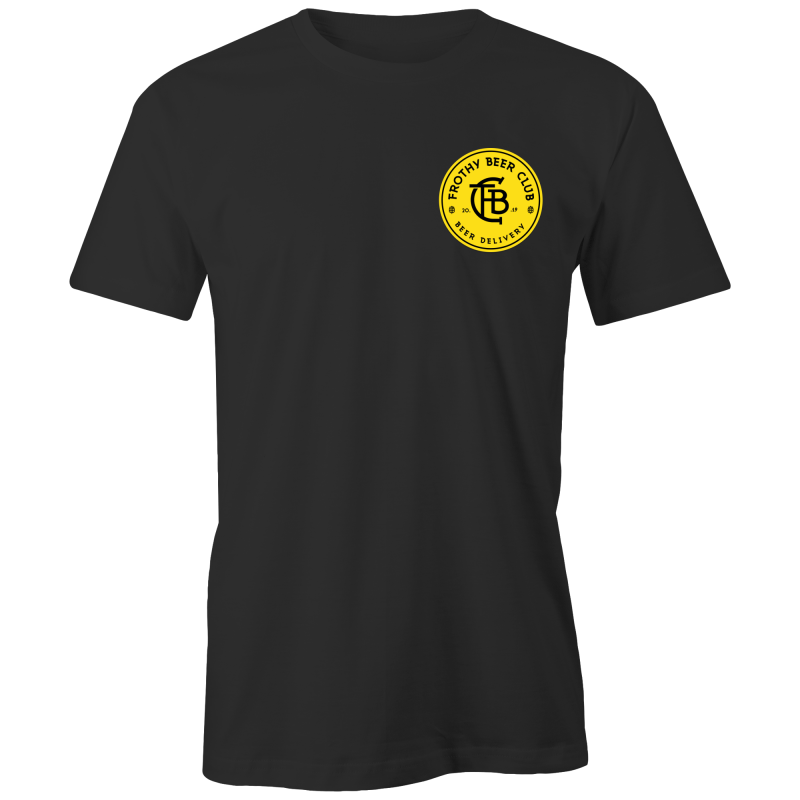 Frothy Beer Club - Black Classic Tee Alternative Design