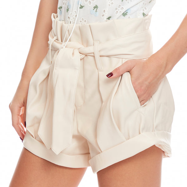 Afton Faux Pleather Shorts