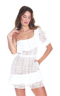 For Love and Lemons Lovebird Lace Mini Dress