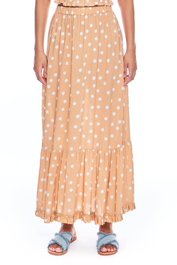 Macadamia Tiered Skirt