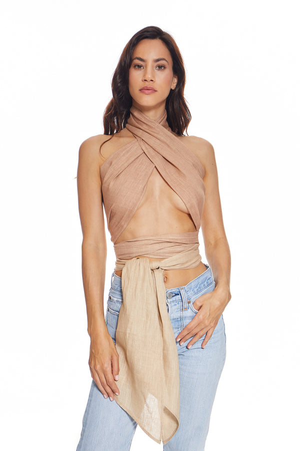 St. Barths Be Nude Wrap Top