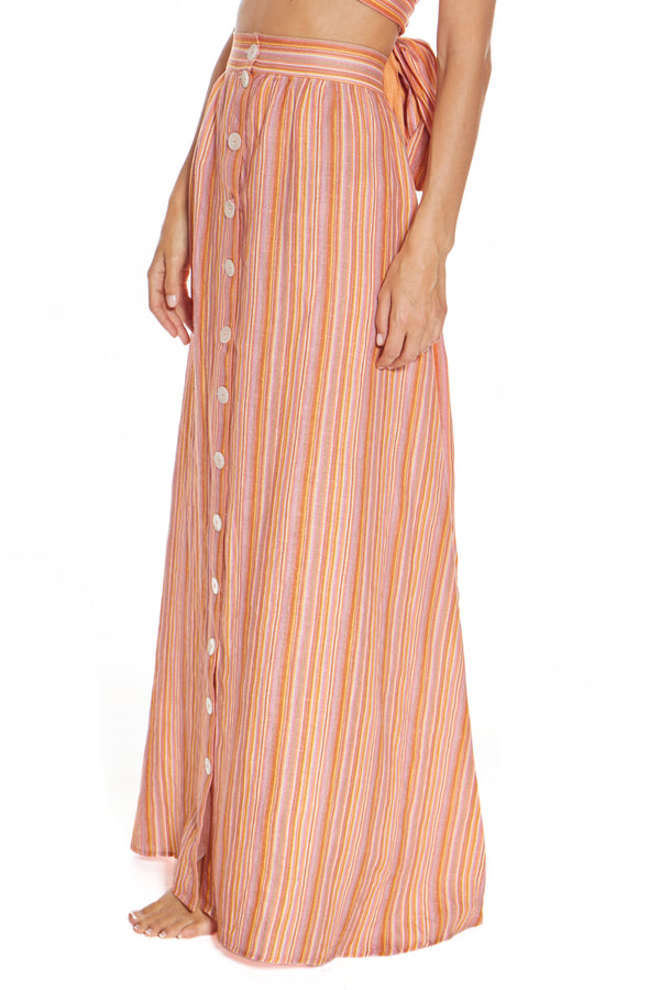 St. Barths Sunrise Stripe Skirt