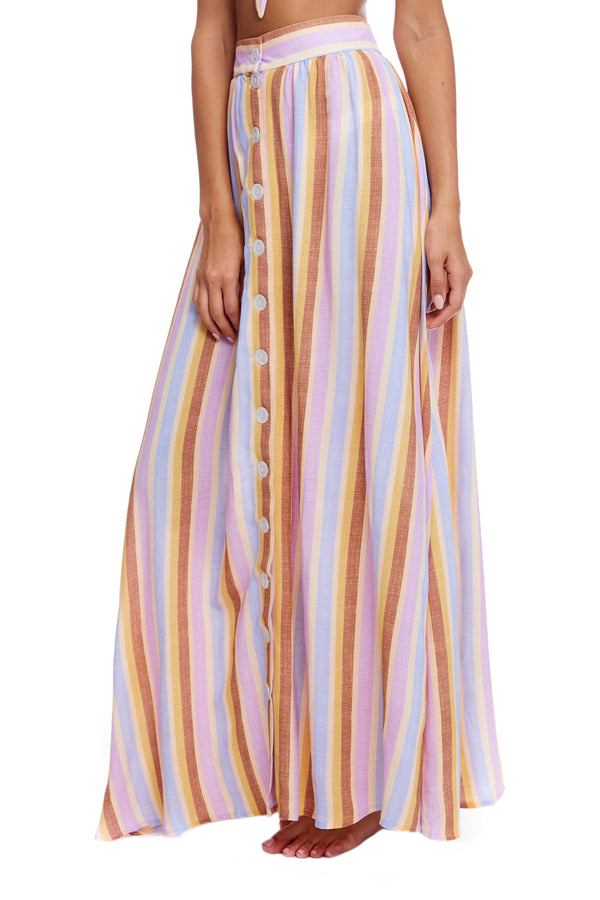 Mallorca Stripe Cotton Edith Skirt