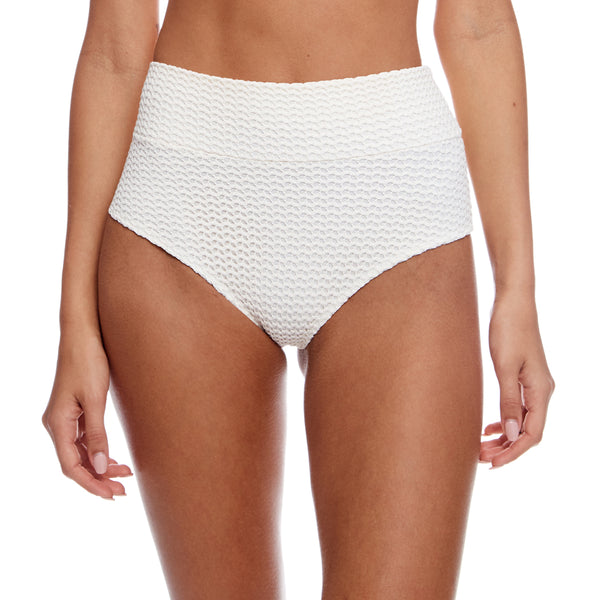 Bone Crochet High Rise Bikini Bottom