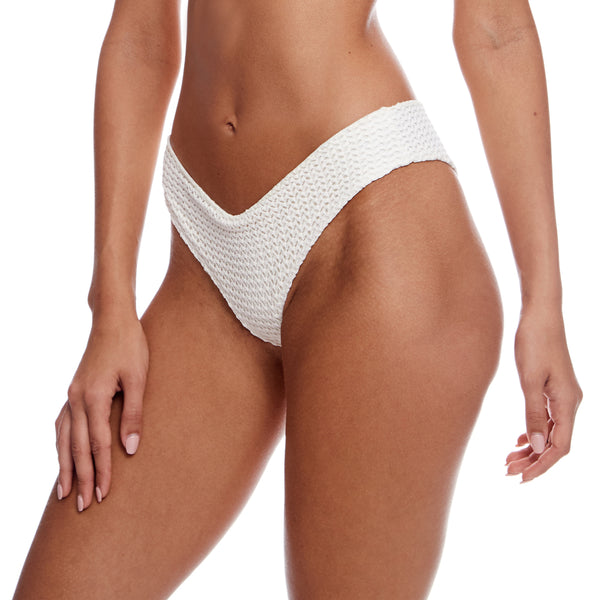 Bone Crochet Raw Edge Nu Micro Bikini Bottom