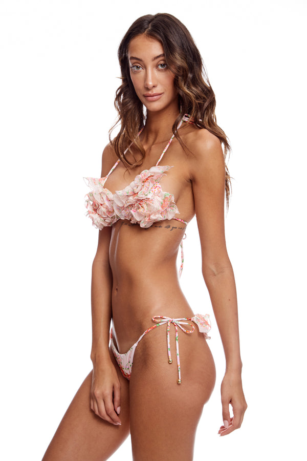 Bikini With Silk Ruffles