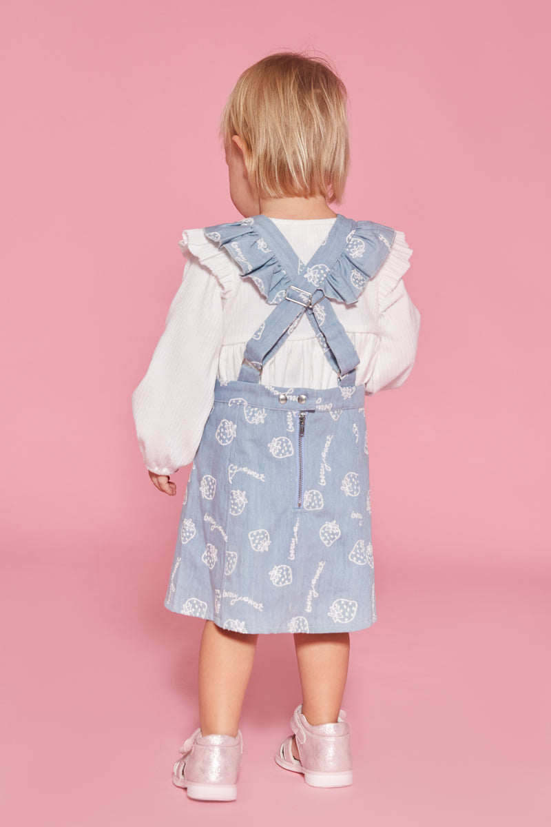 Berry Sweet Overall Dress