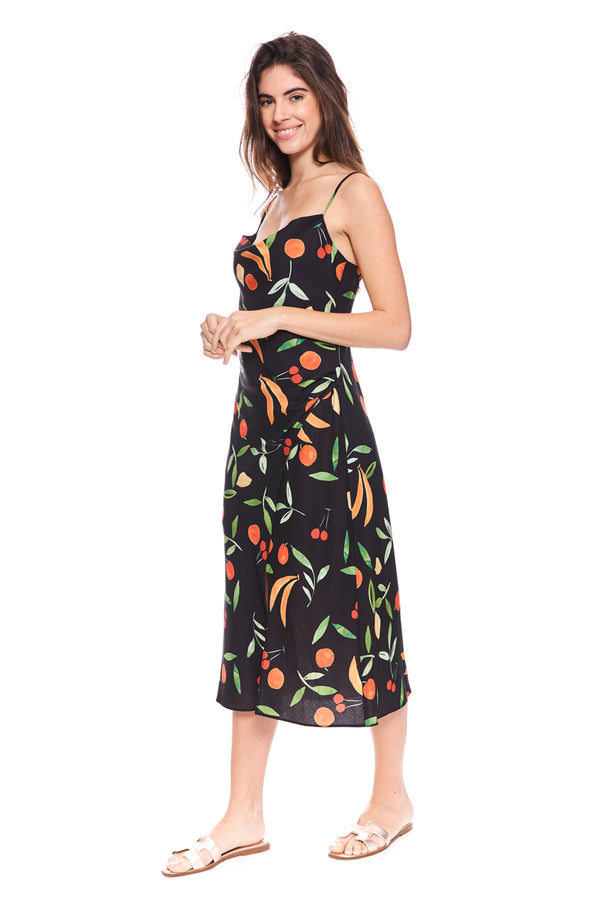 Calypso Midi Dress Black FruitBowl