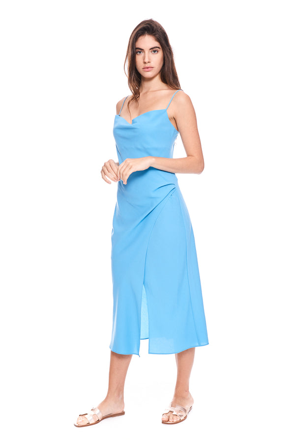 Calypso Midi Dress Light Blue