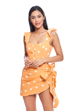 Auburn Sarong Mini Dress