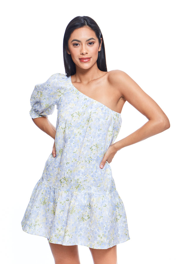 Forget Me Not One Shoulder Mini Dress