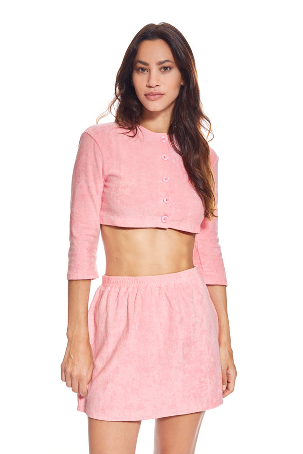 Monaco Rose Cropped Jacket