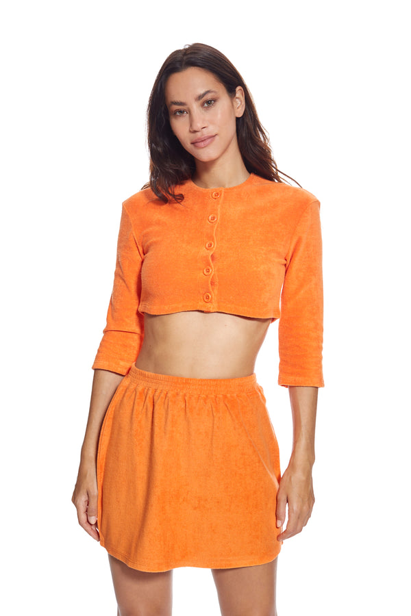 Monaco Burned Orange Cropped Jacket