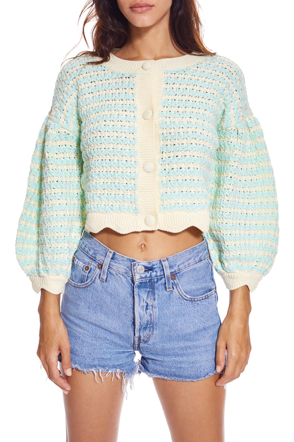 Lizzy Stripe Knit Cardigan