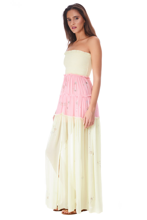 Off Shoulder Long Dress Star Light