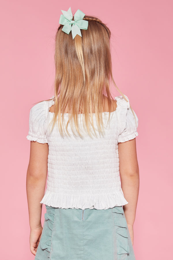 Creamsicle Pointelle Blouse